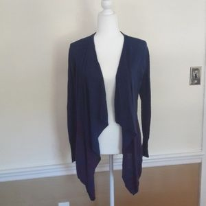 DKNY blue and pink stripe cardigan